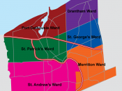 The Six Municipal Wards of St. Catharines
