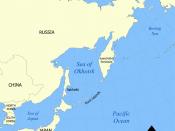 Sea of Okhotsk, Kamchatka and Alaska in the North Pacific