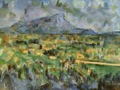 Mont Sainte-Victoire, Paul Cézanne 1904-6