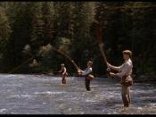 Craig Sheffer, Brad Pitt, and Tom Skerrit in a film still