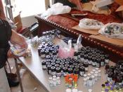 A large stash of anabolic steroid vials confiscated during