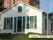 Jesse James's home in St. Joseph, where he was shot (currently at the grounds of the Patee House)