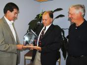 Project Management Institute's (PMI) Project of the Year award