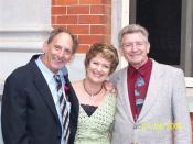 Estelle Blackburn (centre) with Darryl Beamish (left) and John Button (right).