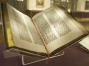 Gutenberg Bible of the New York Public Library. Bought by Lenox in 1847, it was the first to come to the USA.