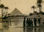Great Pyramid of Giza from a 19th century stereopticon card photo