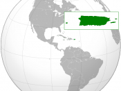 English: Orthographic projection of Puerto Rico.