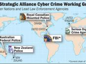 Map showing the Strategic Alliance Cyber Crime Working Group member countries and lead agencies
