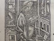 Woodcut of St. Augustine