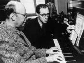 English: Picture of Serguei Prokofiev with Rostropovich Français : Photo de Famille de Prokofiev et Rostropovich