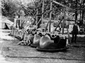 Dodgem cars at the RNA showground, Brisbane, 1938