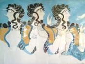 Fresco from Knossos palace