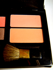 English: A photograph of the blush section of an Estée Lauder eyeshadow/blush compact.