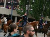 English: Mounted law enforcement