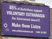photo of controversial and historic billboard made by Exit International