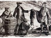 Fur traders in Canada, trading with indians
