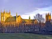 Colleges and churches were often copied from European architecture; Boston College was originally dubbed Oxford in America