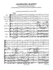 English: Sinfonia Concertante for Oboe, Clarinet, Horn, Bassoon and Orchestra