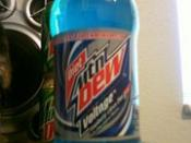 English: this image is a picture of a diet mountain dew voltage