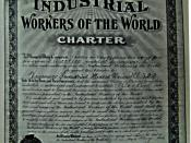 The first IWW charter in Canada, Vancouver Industrial Mixed Union no.322, May 5, 1906.