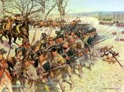 The 1st Maryland Regiment holds the line at the Battle of Guilford Courthouse, March 15, 1781.