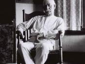 English: Wyatt Earp at home on August 9, 1923. He was 75 years old.