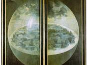 The exterior panels of Hieronymus Bosch's Garden of Earthly Delights