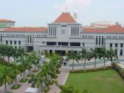 English: An aerial view of Parliament House in Singapore.