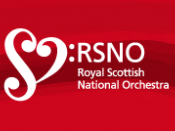The logo of the Royal Scottish National Orchestra.