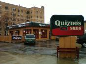 English: The first Quizno's Subs restaurant, a former Sinclair station, located in Capitol Hill, Denver, Colorado.