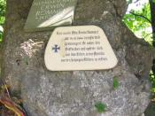 A memorial at the site of Field Marshal Erwin Rommel's suicide outside of the town of Herrlingen, Baden-Württemberg, Germany (west of Ulm).