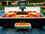 Raj Ghat, Delhi is a memorial to Mahatma Gandhi that marks the spot of his cremation