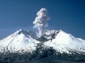 Plumes of steam, gas, and ash often occurred at Mount St. Helens in the early 1980s. On clear days they could be seen from Portland, Oregon, mi (0 km) to the south. The plume photographed here rose nearly ft (0 m) above the volcano's rim. The view is from