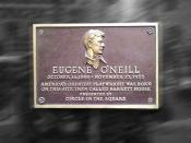 English: Birthplace of playwright Eugene O'Neill (1888–1953): public plaque outside 1500 Broadway (Times Square) in New York City.