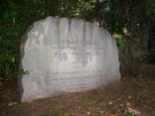 English: Grave of American playwright Eugene O'Neill, located at Forest Hills Cemetery in Jamaica Plain, Massachusetts.