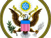 English: The Great Seal of the United States, obverse side. Slovenščina: državni grb ZDA
