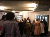 Launching of 'Response to Cindy Sherman' at the Central Station of Amsterdam in the central passageway.