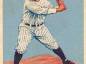 English: 1933 Goudey baseball card of Lou Gehrig of the New York Yankees #92. PD-not-renewed.
