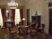 This period room recreates a Greek Revival Parlor the might have been built c. 1835 in New York City. It is in the Metropolitan Museum of Art.