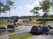 Mei Jing Lake Garden in Sibu