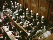 Nuremberg Trials at courtroom 600, November 1945