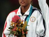 English: Marion Jones - September 30th, 2000 at the 2000 Sydney Olympic Games.