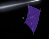 English: An artist's concept of a space sail. Česky: Studie sluneční plachetnice.