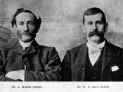 English: Dr W. E. Roth and A. Meston. Dr W. E. Roth the protector of Aborigines for Northern Queensland photographed with A. Meston, the Aboriginal Protector for the Southern districts.