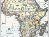 English: Map of Africa from Encyclopaedia Britannica, 1890. Don't remove border - old map.