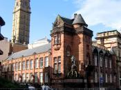 The original James Watt Memorial College building in Greenock Scotland, forerunner of the James Watt College.