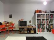 Apartment living room in Toronto, Canada.