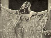 Cleopatra as portrayed by Theda Bara in the 1917 movie Cleopatra, in a costume of dubious historical accuracy