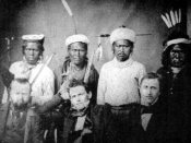 English: Maidu Headmen with Treaty Commissioners
