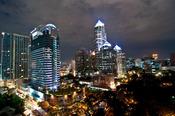 English: All Seasons Place, Bangkok, Thailand with China Recoures Building.